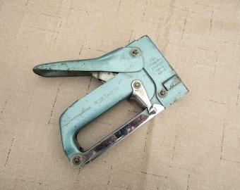 Vintage swingline blue handheld stapler #101 Tacker poster stapler