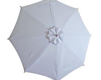 "Wedding ""Mr and Mrs"" Sun Umbrella. Sunbella Sun Parasol, Anti UV Umbrella. UPF50+. Blocks 98%+ UV rays.  SD15EMM. Free postage!"