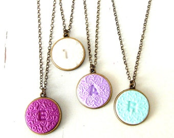Personalized Initial Necklace , custom Initial statement necklace, Initial pendant , Christmas Gift