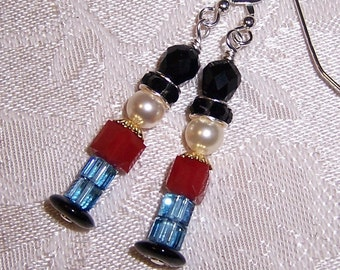 Toy Soldiers Earrings with Swarovski Crystal and Sterling Silver