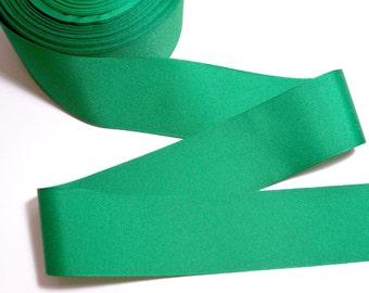 Green Ribbon, Kelly Green Grosgrain Ribbon 2 1/4 inches wide x 10 yards, SECOND QUALITY FLAWED