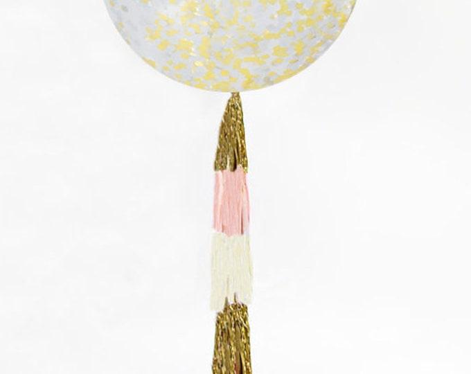 "Metallic Gold Confetti Balloon 36"" | Silver confetti balloon | 36 inch Gold Confetti Balloon | Metallic confetti balloons"