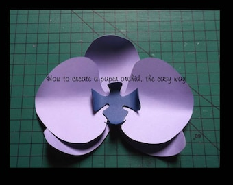 How To Create A Paper Orchid From Scratch With Template