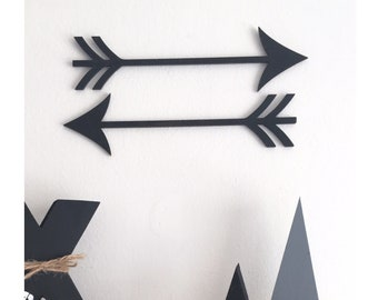 Scandi nordic arrows, wooden arrows, monochrome nursery, scandi nursery