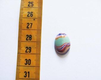 oval cabochon Rainbow stone multicoloured 18x13x5mm