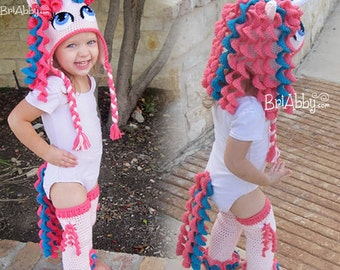 Crochet Unicorn / Pony Hat, Leggings & Tail Pattern Pack (PDF FILE)