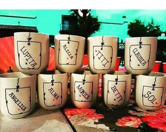 Custom handmade cups