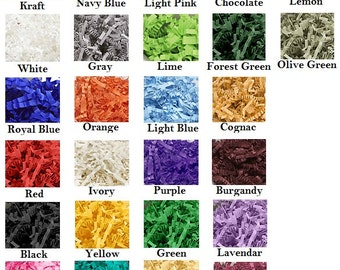 10 lbs Crinkle Paper - Various Colors - Gift Basket Filler - FREE SHIPPING!