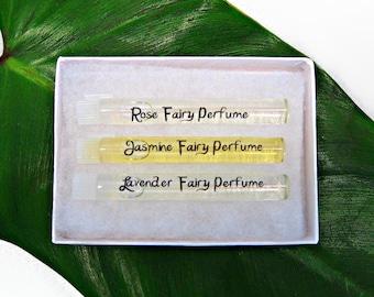 ONE PERFUME SAMPLE: Choose from Rose, Lavender, Jasmine, Seductress, Enchantress, Temptress. 1.15 ml vial.