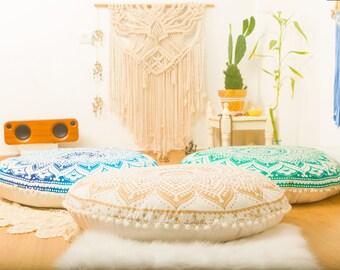 Pouf Ottoman Floor Cushion Floor Pillow Floor Cushion Seating Area Pouffe Seat Cushion Floor Pouf Meditation Cushion FILLER NOT INCLUDED