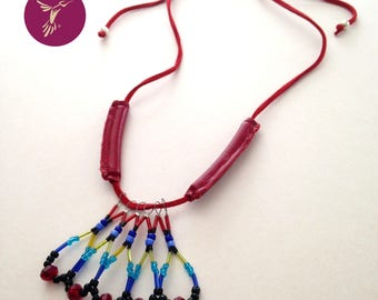 "Necklace ""Red Macaw"""