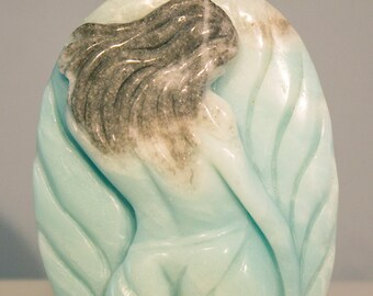 Finest Hand Carved Amazonite Beauty Pendant