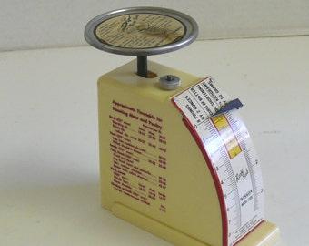Vintage Kitchen Scales - Hanson  - 1 - 8 Pounds - Recipe Scale - Kilograms, Grams, Ounces