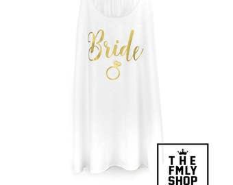 Bride Tank Top, Bachelorette Party Tank, Bride Ring, Engagement Ring Shirt, Bride Shirt, Bride Gold Shirt, Bride Gold Ring, Bride to be Tank
