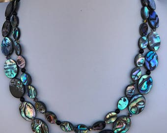 Abalone Two Strand necklace