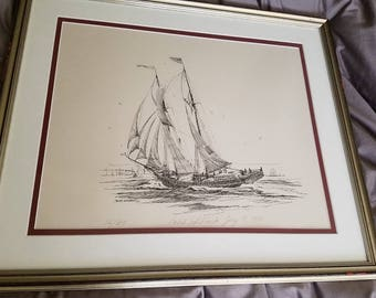 Caleb Whitbeck Signed/Numbered Nautical Print