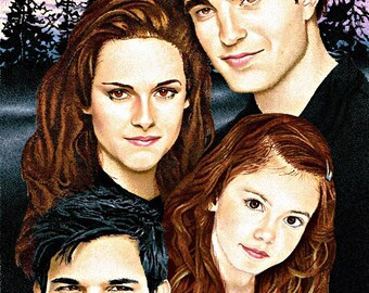 Breaking Dawn Family art print