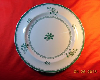 """One (1), 10 3/8"""" Dinner Plate, from Copeland-Spode, in the Gloucester Green Y 2990 Pattern."""