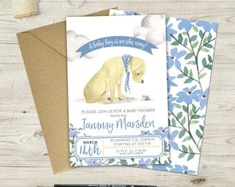Labrador Baby Shower Invitation