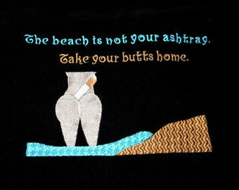 Cheeky Velour BEACH Towel Black Embroidery 100% terry cotton velour for Shower Lake Bath Ready to Ship