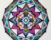 New Flowering, an 18-inch, all wool yarn, Ojo de Dios, by custom order