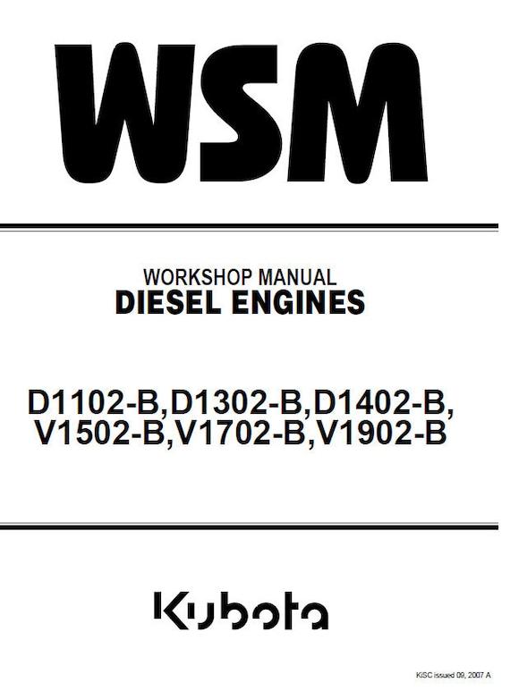 kubota d1102 b d1302 b d1402 b v1502 b v1702 b v1902 b diesel rh etsy com kubota v1702 engine service manual Kubota V1702 Engine Parts Catalog