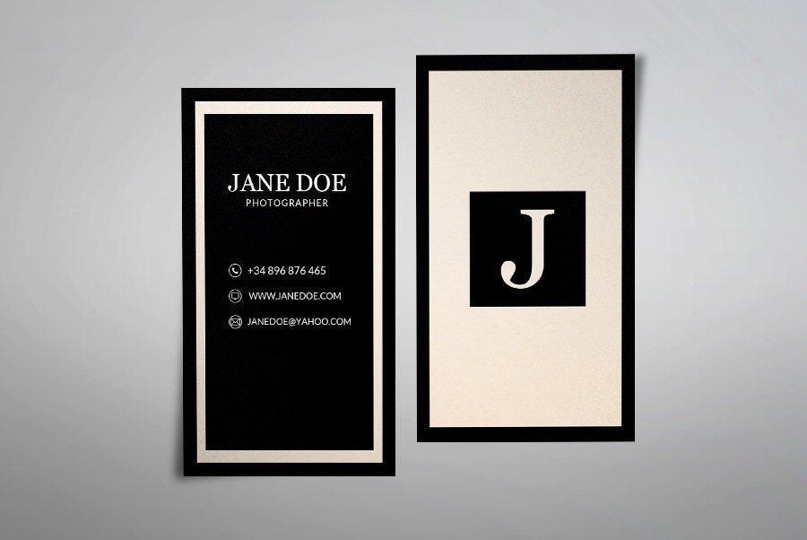 Feminine business card template modern business card design