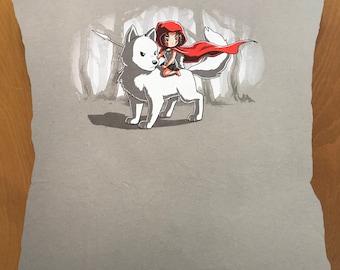Princess Mononoke throw pillow