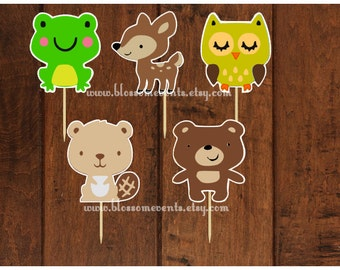 Woodland Cupcake Toppers (12) set 2
