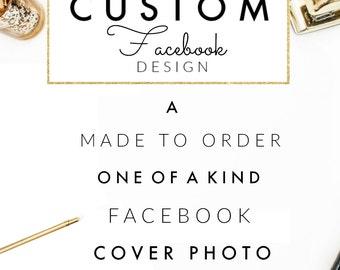 Custom Facebook Design // Personalized Facebook Cover // Social Media