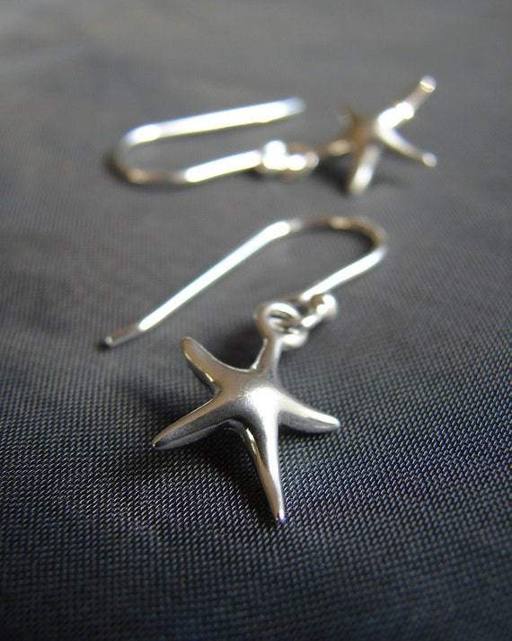 Little Starfish sterling silver earrings