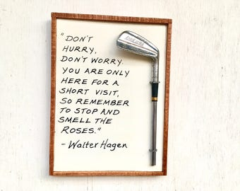 """Walter Hagen -""""Smell the Roses"""", Unique Golf Gift"""
