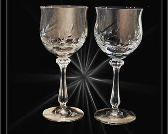 "Set of Two 8"" Wine Goblets"