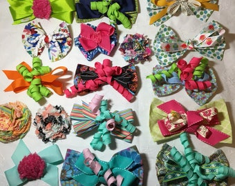 Hair bows and headbands designed to match LolliTogs outfit are sold separately.