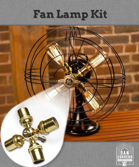 Fan lamp kit diy kit how to lamp parts lamp supplies aloadofball Image collections