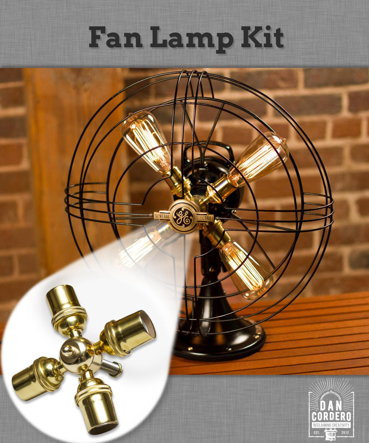 Fan lamp kit diy kit how to lamp parts lamp supplies zoom mozeypictures Images