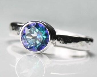 Mystic Topaz Ring - Gemstone Stack Ring - Silver Stacking Ring - Mystic Topaz Jewelry - Topaz Engagement Ring - Neptune Garden Mystic Topaz