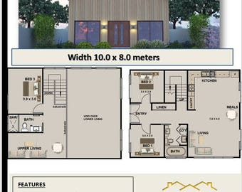 122.2 m2 | Barn Style House Plan | 3 bed | OFF THE SHELF house plans for sale
