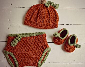 Crochet Fall Baby Pumpkin Costume, Fall Baby Hat, Pumpkin Hat, Pumpkin Booties, Baby Shower Gift, Fall Baby Gift, Pumpkin Outfit, Fall Hat