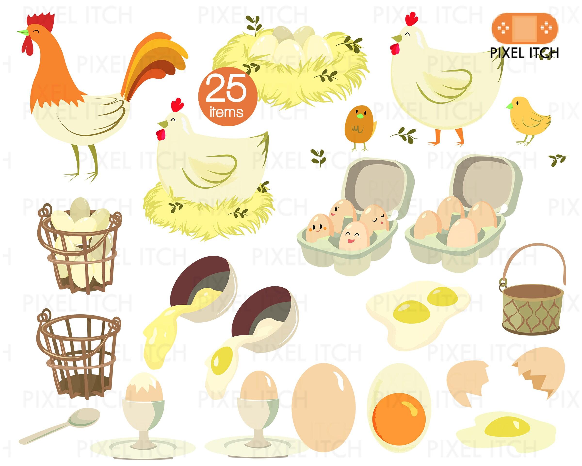 Poultry Clipart - Farm Clipart, Farm Produce, Chicken Clipart ...