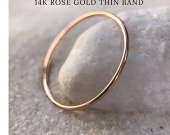 Thin wedding band Etsy