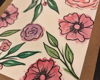 floral, greeting card