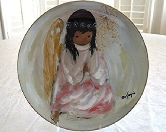 DeGrazia Prayer CHRISTMAS ANGEL 1981 Holiday Series Limited Edition Collector Plate MIB