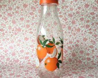 Retro Le Parfait Glass Juice Bottle ORANGES