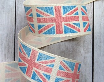 Vintage British Union Jack Flag Ribbon