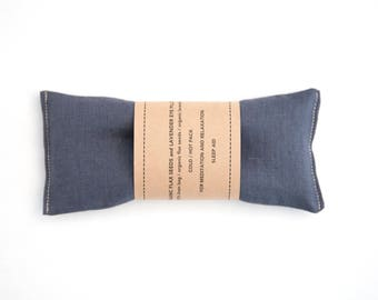 Linen Eye Pillow - Lavender Eyepillow - Spa gift - Gift for him - Yoga Prop - Eye Pillow for Men - Aromatherapy - Sleep Aid - Charcoal