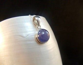 Rare Tanzanite Sterling Silver Necklace