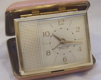 Vintage Westclox travel alarm clock...FREE shipping!!