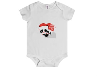 Infant Rip Snap Tee Onesies Daddy Panda and Baby Panda Matching Fathers Day Print, onesies for babies