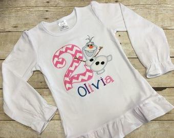 Girls Snowman Shirt